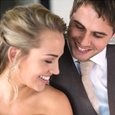 mooi verliefd bruidspaar