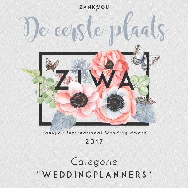 Zankyou International Wedding Award Winner 2017