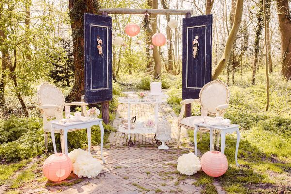 blush blossom wedding styling Wedding Eve