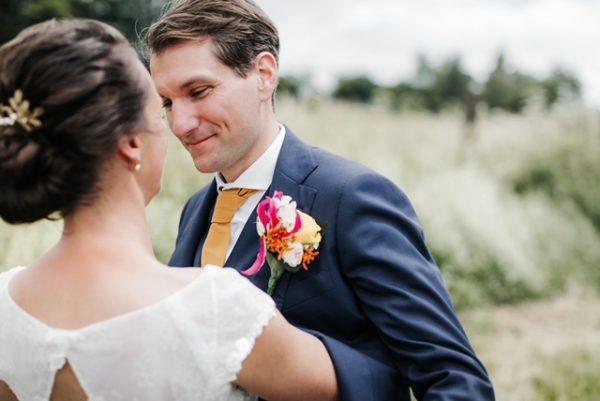 Bruidspaar in de Belgische Ardennen