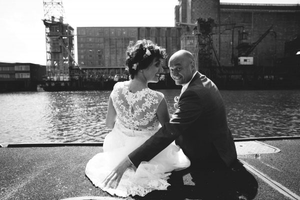Maassilo trouwfoto