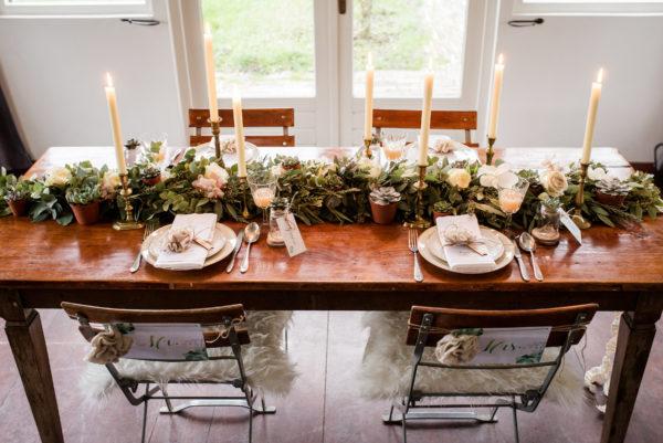 mooie rustieke tafel styling Wedding Eve
