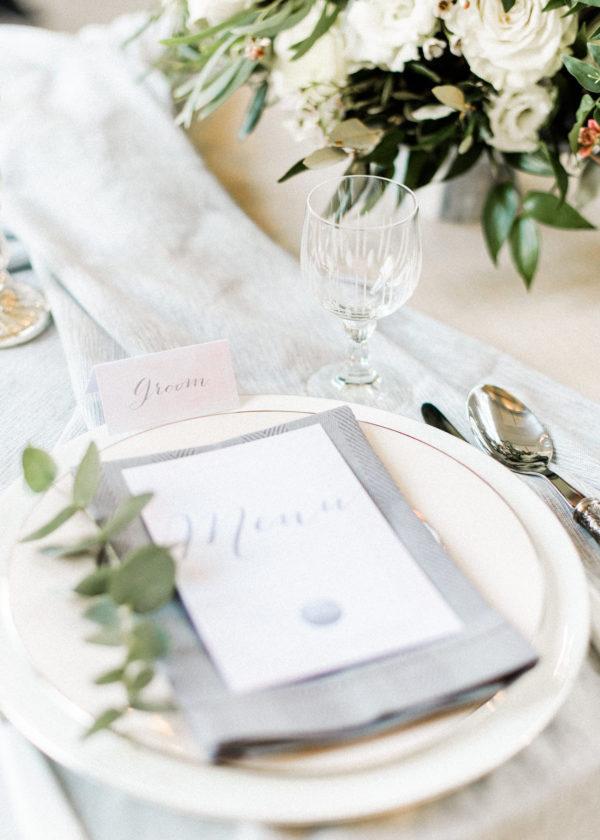 modern klassieke stijl naam en menukaart