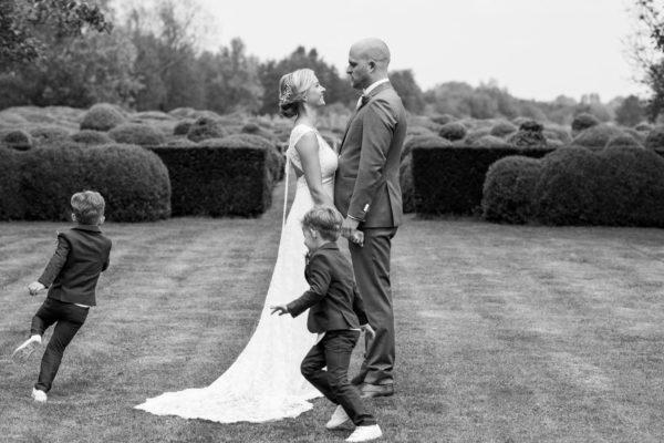 romantische bruiloft bij Domaine d'Heerstaayen